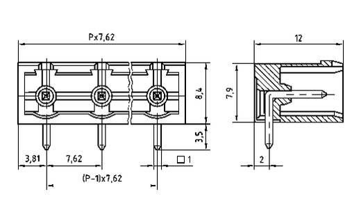 Stiftgehäuse-Platine STLZ960 Polzahl Gesamt 12 PTR 50960125021D Rastermaß: 7.62 mm 1 St.