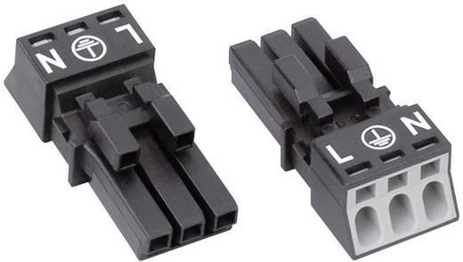 Netz-Steckverbinder Serie (Netzsteckverbinder) WINSTA MINI Buchse, gerade Gesamtpolzahl: 2 + PE 16 A Schwarz WAGO 1 St
