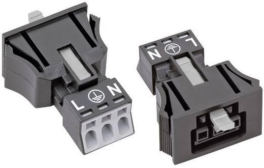 Netz-Steckverbinder Serie (Netzsteckverbinder) WINSTA MINI Buchse, gerade Gesamtpolzahl: 2 + PE 16 A Schwarz WAGO 890-7