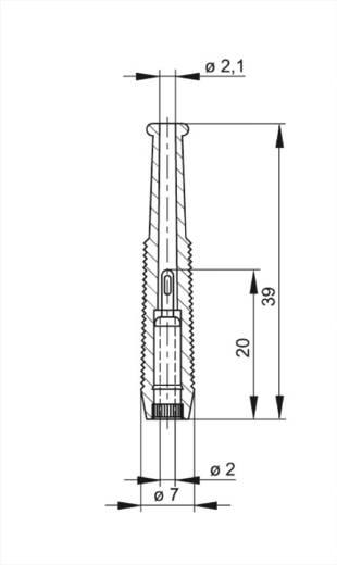 Miniatur-Laborbuchse Buchse, gerade Stift-Ø: 2 mm Rot SKS Hirschmann MKU 1 1 St.