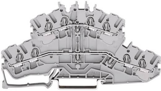 Doppelstock-Durchgangsklemme 5.20 mm Zugfeder Belegung: L, L Grau WAGO 2002-2401 1 St.