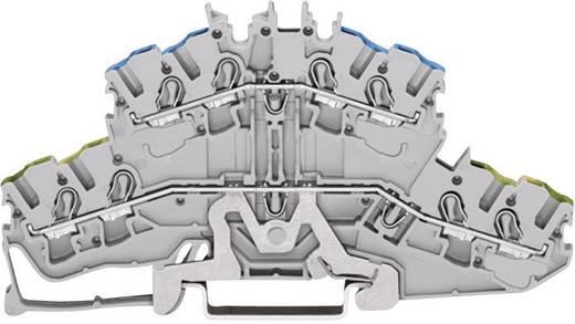 Doppelstock-Schutzleiterklemme 5.20 mm Zugfeder Belegung: PE, L Grau WAGO 2002-2427 1 St.