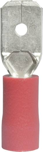 Flachstecker Steckbreite: 6.3 mm Steckdicke: 0.8 mm 180 ° Teilisoliert Rot Vogt Verbindungstechnik 3910S 1 St.