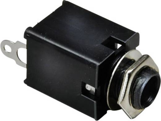 Klinken-Steckverbinder 6.35 mm Buchse, Einbau vertikal Polzahl: 2 Mono Silber BKL Electronic 1109030 1 St.