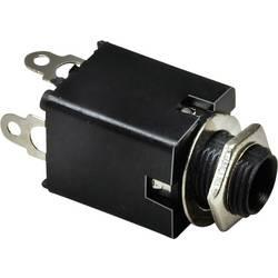 Jack konektor 6.35 mm stereo zásuvka, vstavateľná vertikálna TRU COMPONENTS 3, strieborná, 100 ks