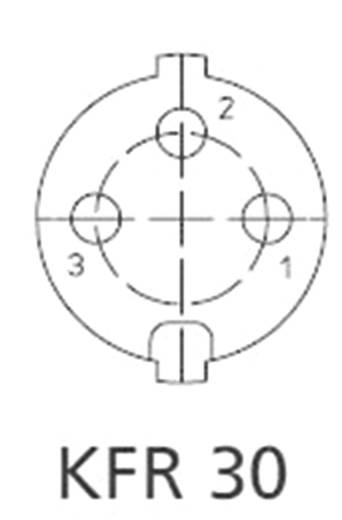 DIN-Rundsteckverbinder Buchse, Einbau vertikal Polzahl: 3 Silber Lumberg KFR 30 1 St.