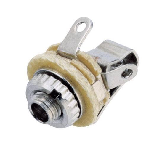Klinken-Steckverbinder 2.5 mm Buchse, Einbau vertikal Polzahl: 2 Mono Silber BKL Electronic 72313 1 St.