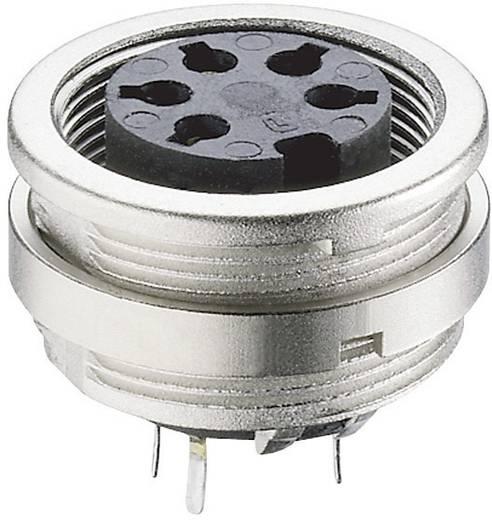 DIN-Rundsteckverbinder Buchse, Einbau vertikal Polzahl: 4 Silber Lumberg KFR 40 1 St.