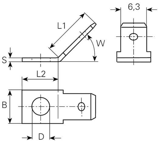 Steckzunge Steckbreite: 6.3 mm Steckdicke: 0.8 mm 45 ° Unisoliert Metall Vogt Verbindungstechnik 3856.60 1 St.