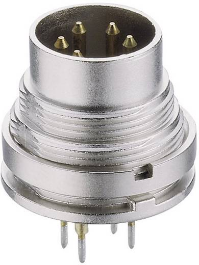 DIN-Rundsteckverbinder Stecker, Einbau vertikal Polzahl: 8 Silber Lumberg SGR 80 1 St.
