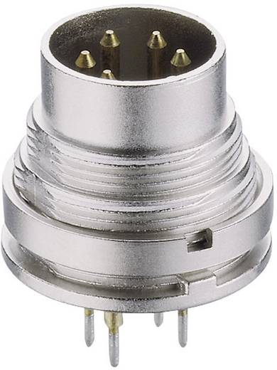 DIN-Rundsteckverbinder Stecker, Einbau vertikal Polzahl: 8 Silber Lumberg SGR 81 1 St.