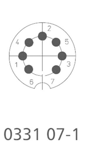 DIN-Rundsteckverbinder Stecker, gerade Polzahl: 7 Silber Lumberg 0332 07-1 1 St.
