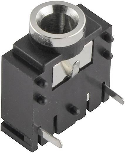 Klinken-Steckverbinder 3.5 mm Buchse, Einbau horizontal Polzahl: 3 Stereo Silber 1 St.