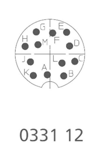 DIN-Rundsteckverbinder Stecker, gerade Polzahl: 12 Silber Lumberg 0332 12 1 St.