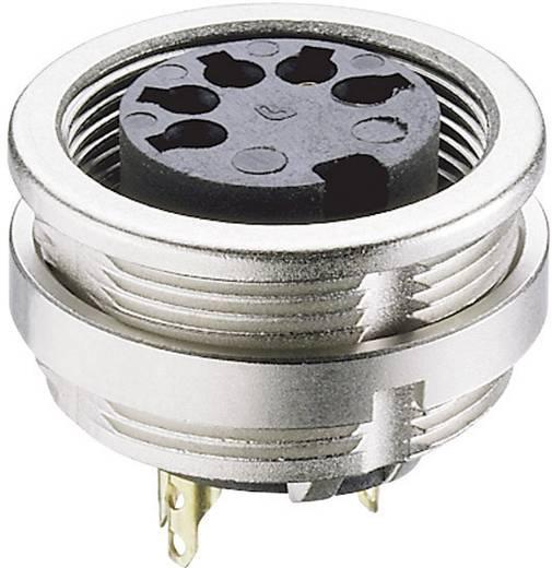 Lumberg 0304 06 DIN-Rundsteckverbinder Buchse, Einbau vertikal Polzahl: 6 Silber 1 St.