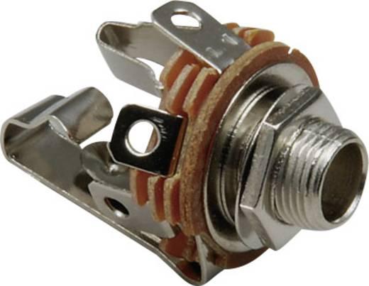 Klinken-Steckverbinder 6.35 mm Buchse, Einbau vertikal Polzahl: 3 Stereo Silber BKL Electronic 1109002 1 St.