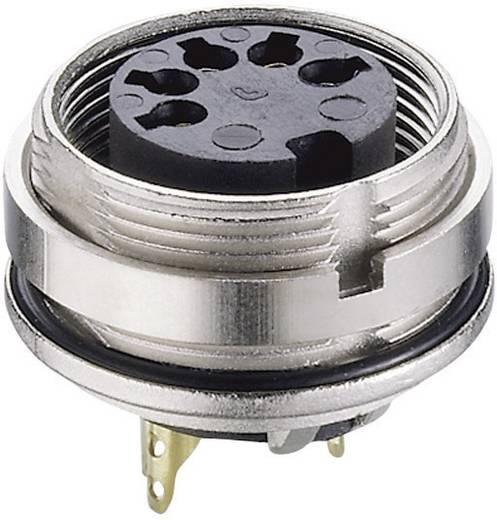 DIN-Rundsteckverbinder Buchse, Einbau vertikal Polzahl: 4 Silber Lumberg 0305 04 1 St.