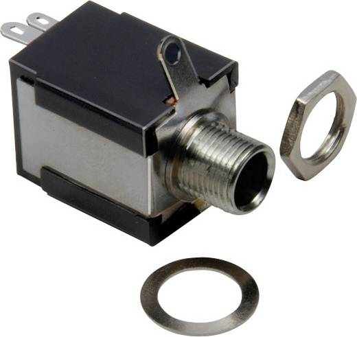 Klinken-Steckverbinder 6.35 mm Buchse, Einbau vertikal Polzahl: 2 Mono Schwarz BKL Electronic 1109032 1 St.