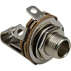 Jack konektor 3.5 mm čiernobiela zásuvka, vstavateľná vertikálna TRU COMPONENTS 2, strieborná, 100 ks