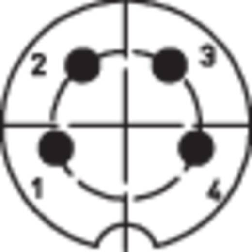 DIN-Rundsteckverbinder Flanschbuchse, Kontakte gerade Polzahl: 4 Silber Lumberg 0107 04 1 St.