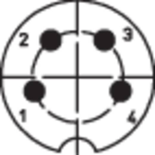 DIN-Rundsteckverbinder Stecker, Einbau vertikal Polzahl: 4 Silber Lumberg SFV 40 1 St.