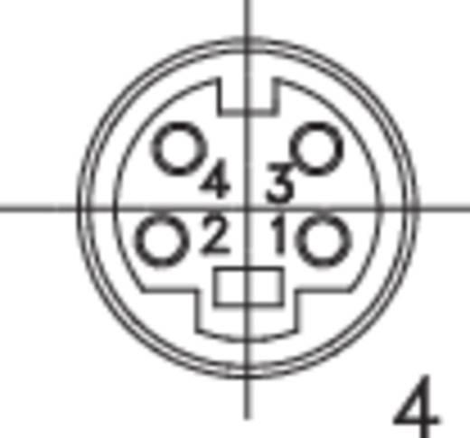 Miniatur-DIN-Rundsteckverbinder Buchse, gerade Polzahl: 4 Schwarz BKL Electronic 204010 1 St.