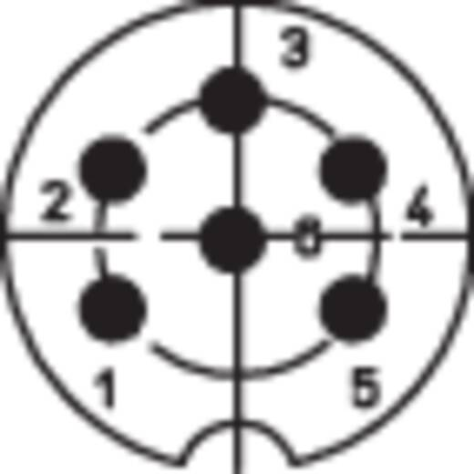 DIN-Rundsteckverbinder Buchse, Einbau vertikal Polzahl: 6 Silber Lumberg 0307 06 1 St.
