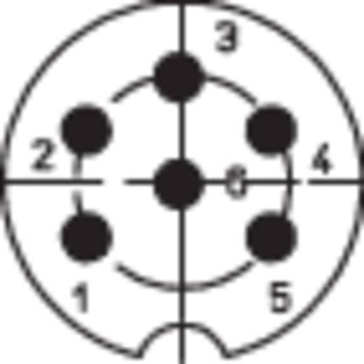 DIN-Rundsteckverbinder Flanschbuchse, Kontakte gerade Polzahl: 6 Silber Lumberg 0103 06 1 St.