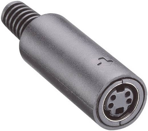 DIN-Rundsteckverbinder Buchse, gerade Polzahl: 4 Schwarz Lumberg MJ-372/4 1 St.