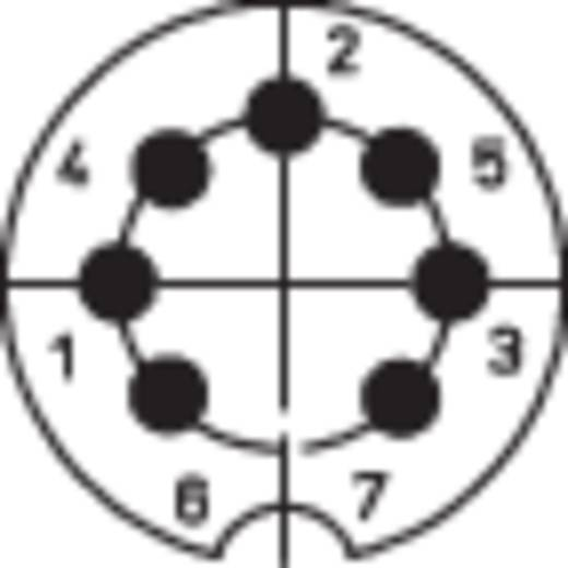 DIN-Rundsteckverbinder Stecker, gewinkelt Polzahl: 7 Silber Lumberg 0134 07-1 1 St.
