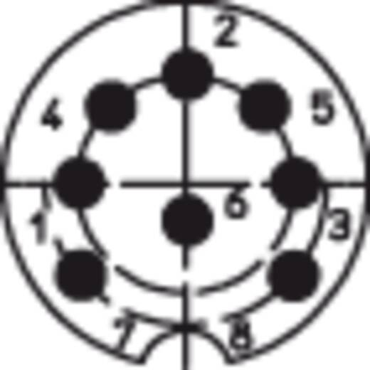 DIN-Rundsteckverbinder Stecker, gewinkelt Polzahl: 8 Silber Lumberg WSV 80 1 St.