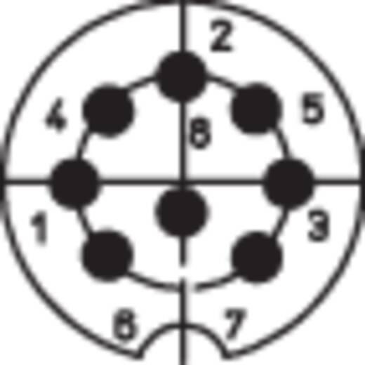 DIN-Rundsteckverbinder Buchse, Einbau vertikal Polzahl: 8 Silber Lumberg 0304 08-1 1 St.