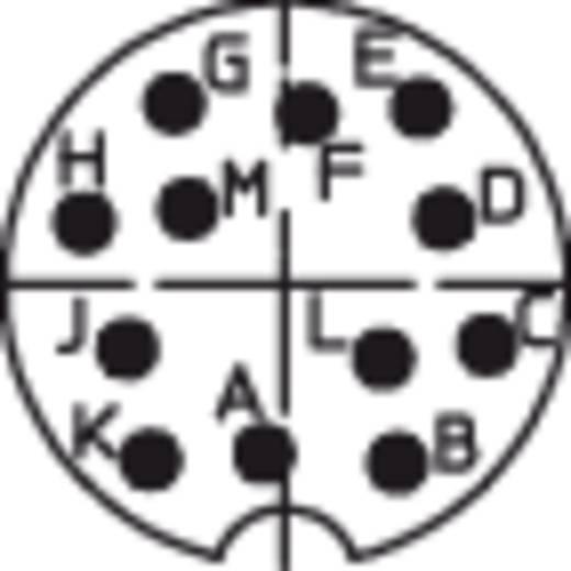 DIN-Rundsteckverbinder Stecker, Einbau vertikal Polzahl: 12 Silber Lumberg 0314 12 1 St.