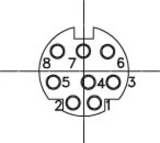 Miniatur-DIN-Rundsteckverbinder Buchse, Einbau horizontal Polzahl: 8 Schwarz BKL Electronic 0204056 1 St.