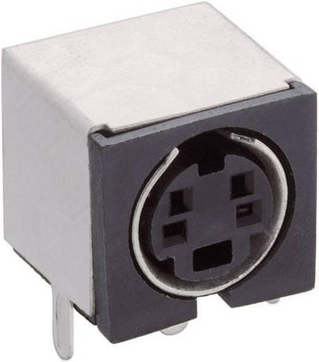 Miniatur-DIN-Rundsteckverbinder Buchse, Einbau horizontal Polzahl: 4 Schwarz Lumberg TM 0508 A/4 1 St.