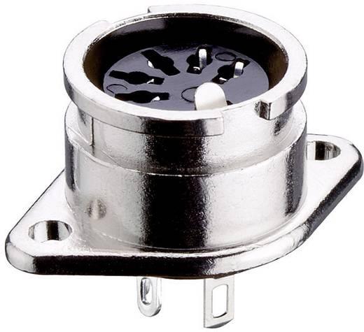 DIN-Rundsteckverbinder Flanschbuchse, Kontakte gerade Polzahl: 6 Silber Lumberg PBR 6 1 St.