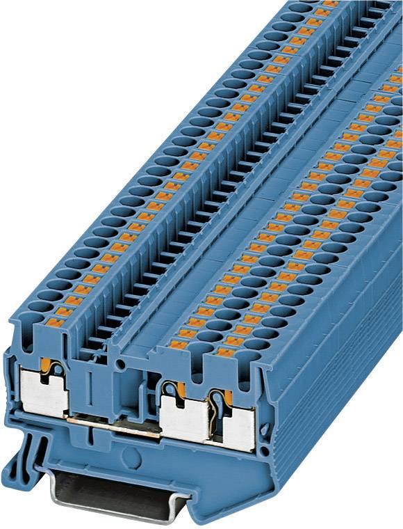 50 x Reihenklemme Durchgangsklemme Phoenix Contact UK 5-TWIN BU Blau