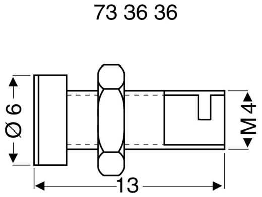 Sicherungs-Steckverbinder Buchse, Einbau vertikal Stift-Ø: 2 mm Silber Schnepp BU 2100 1 St.