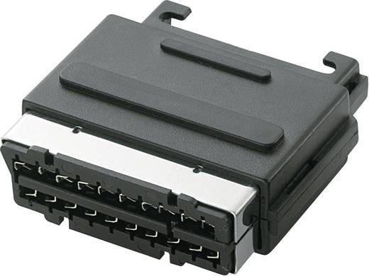 Scart-Steckverbinder Stecker, Einbau vertikal Polzahl: 21 Schwarz 1 St.