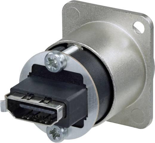 HDMI-Steckverbinder Flanschbuchse, Kontakte gerade Polzahl: 19 Schwarz Neutrik NAHDMI-W-B 1 St.