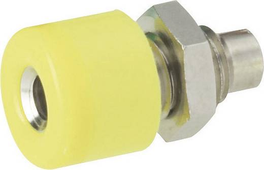 Miniatur-Laborbuchse Buchse, Einbau vertikal Stift-Ø: 2.6 mm Gelb Schnepp 1 St.