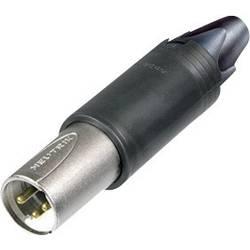 XLR káblová zástrčka/zásuvka Neutrik NC3FM-C, rovná, 3-pól., 3,5 - 8 mm, IP40, strieborná