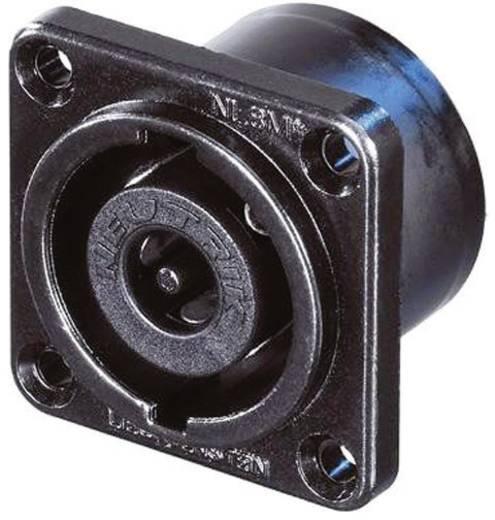 Lautsprecher-Steckverbinder Flanschbuchse, Kontakte gerade Polzahl: 8 Schwarz Neutrik NL8MPR-BAG 1 St.