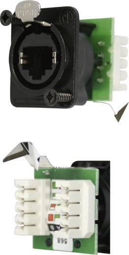 RJ45 Datensteckverbinder etherCon® D Serie Buchse, gerade NE8FDV-YK-B Pole: 8P8C NE8FDV-YK-B Schwarz Neutrik NE8FDV-YK-B