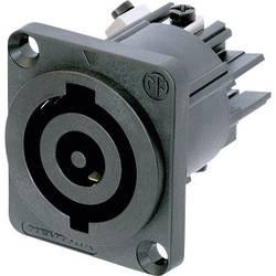 Sieťový konektor Neutrik NAC3MP-HC, zásuvka, vstavateľná vertikálna, počet kontaktov: 2 + PE, 32 A, 250 V/AC, čierna, 1 ks