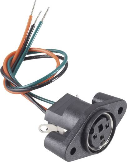 Miniatur-DIN-Rundsteckverbinder Buchse, Einbau vertikal Polzahl: 8 Schwarz BKL Electronic 0204028 1 St.