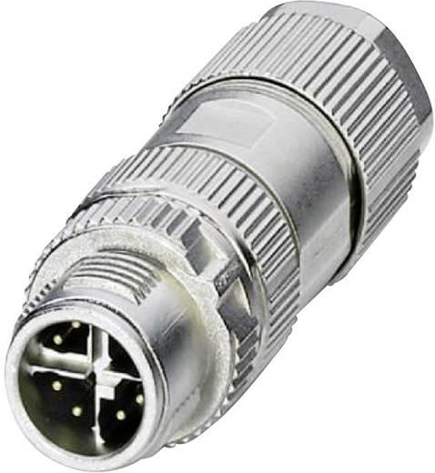 Sensor-/Aktor-Datensteckverbinder M12 Stecker, gerade Polzahl (RJ): 8P8C Phoenix Contact 1417430 VS-08-M12MS-10G-P SCO