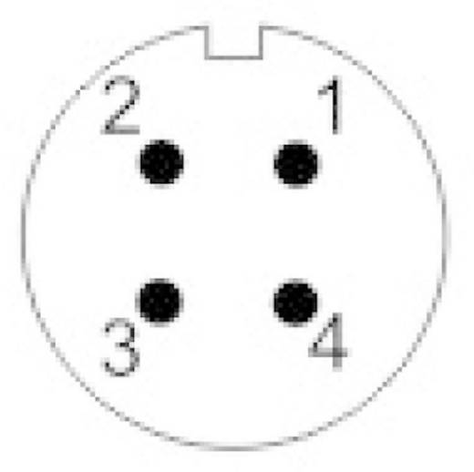 IP68-Steckverbinder Serie SP13 Pole: 4 Kabelbuchse 5 A SP1310 / S 4 I Weipu 1 St.