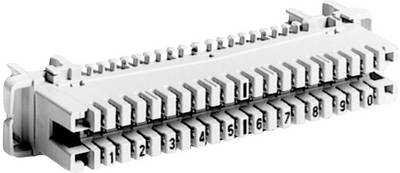 LSA-PLUS<sup>®</sup>-Listelli Serie 2 Basetta di collegamento con codice colore 10 Conduttori doppi 6089 1 120-01 Grigio