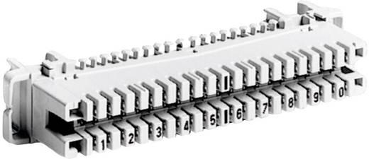 LSA-PLUS®-Leisten Baureihe 2 Anschlussleiste mit Farbcode 10 Doppeladern 6089 1 120-01 Grau ADC Krone Inhalt: